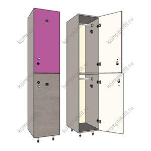 Двухсекционные шкафы