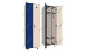 Шкафчик для одежды в раздевалку
