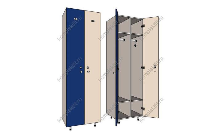 Шкаф для раздевалок Дуэт эконом