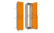 Шкаф для раздевания 2 х секционный