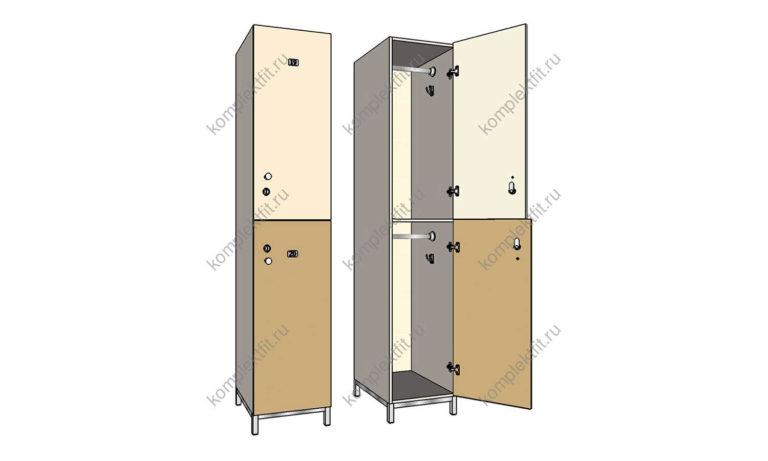 Шкаф для раздевалок Дабл-МК эконом