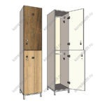 Шкаф одностворчатый двухсекционный