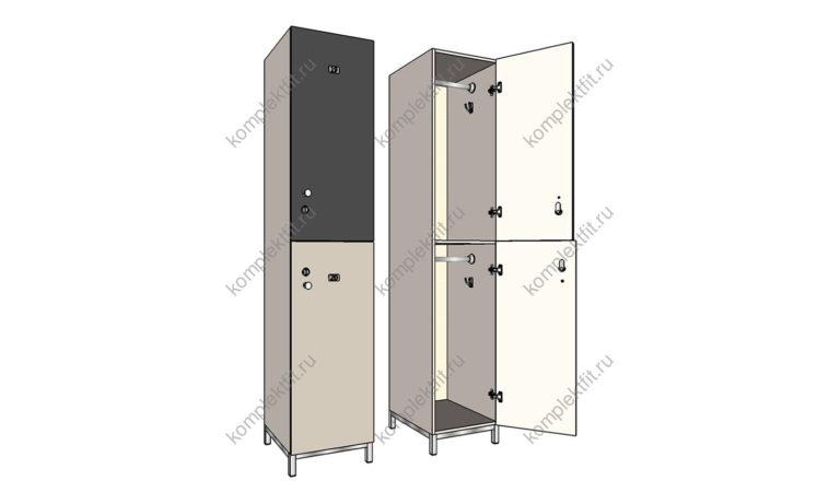 Шкаф для раздевалок Дабл-МК премиум
