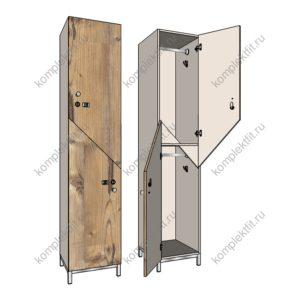 Шкаф для раздевалок Диагональ эконом