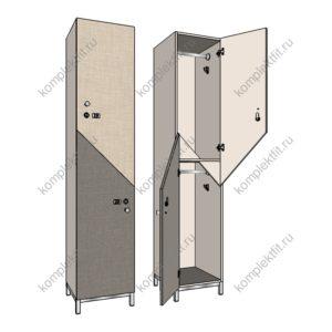 Шкаф для раздевалок Диагональ-МК премиум