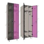 Шкафчики для раздевалок двойной