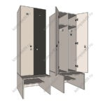 Двухъярусные шкафы для раздевалок
