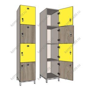 Четырехсекционные шкафы
