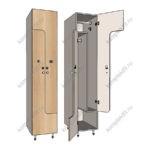 Шкаф для раздевалок Z-образный эконом