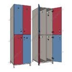 шкафы для раздевалок с электронным замком