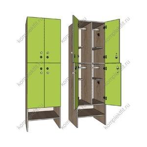 Шкаф для раздевалок Квартет эконом (F14698)