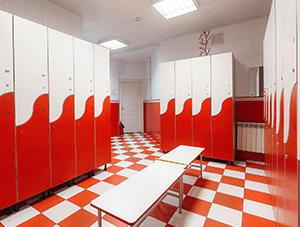Шкафы для производственных раздевалок