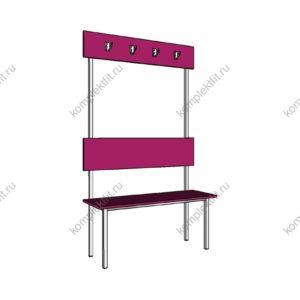 Высокая скамейка одинарная базовая - 1800х400х1000 (ВхГхШ)
