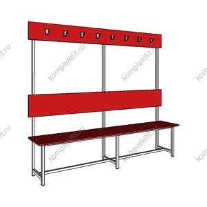 Высокая скамейка одинарная стандартная - 1800х400х1000 (ВхГхШ)