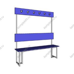 Высокая скамейка одинарная усиленная - 1800х400х1000 (ВхГхШ)