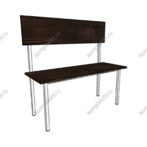 Скамейка одинарная базовая - 950х400х1000 (ВхГхШ)