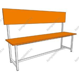 Скамейка одинарная стандартная - 950х400х1000 (ВхГхШ)