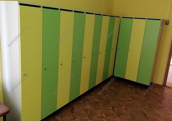 Детские шкафы для одежды в детский сад