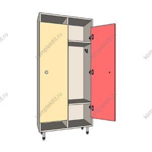 Шкаф для раздевалок детский простой 1 секция