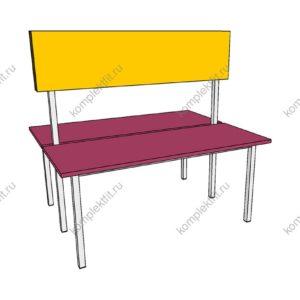 Скамейка двойная базовая для раздевалок - 950х800х1000 (ВхГхШ)