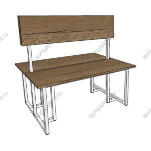 Скамейка для раздевалок двойная усиленная - 950х800х1000 (ВхГхШ)