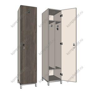 Односекционные шкафы для раздевалок 500х500 мм